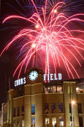 Fireworks On July 4th At Coors Field