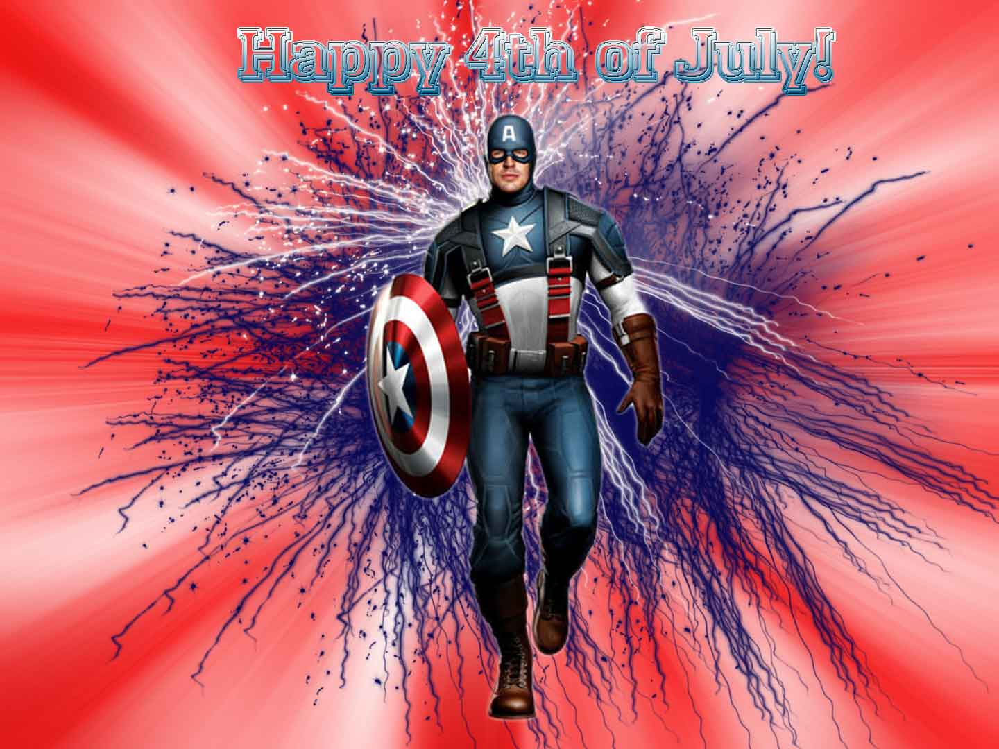 Happy 4th Of July Captain America