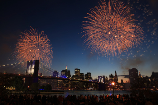 Fireworks over NYC