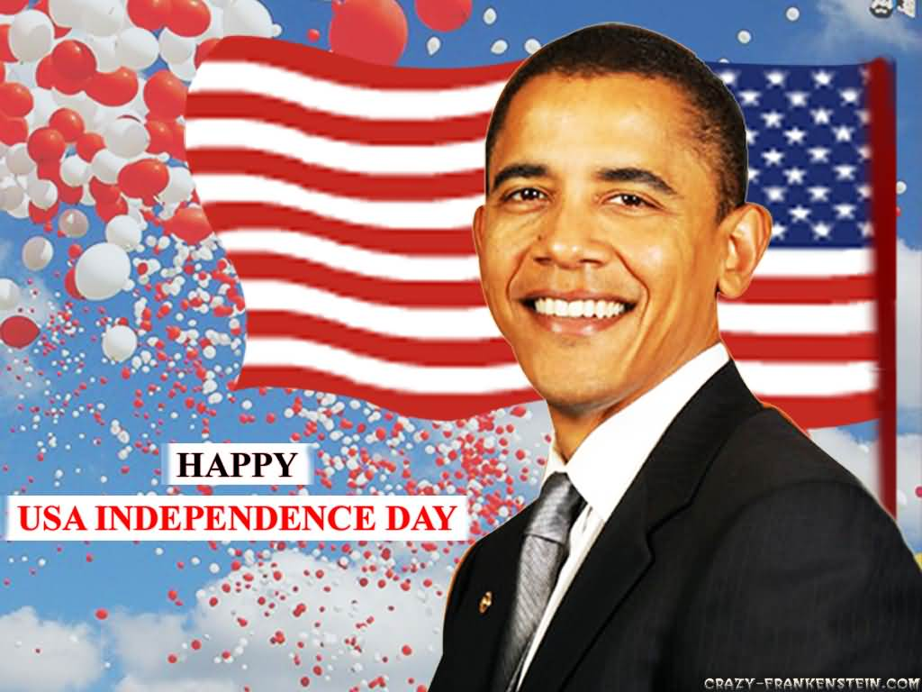 Obama Happy Usa Independence Day