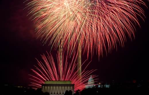 firework Lincoln Memorial 4th Of July Celebration