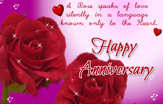 A Rose Speaks Of Love Silently In A Language Known Only To The Heart Happy Anniversary