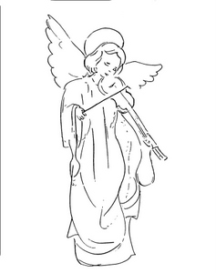 Angel Playing Violin Picture
