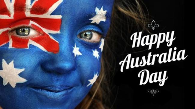 Australia Day Australian Flag Girl Face