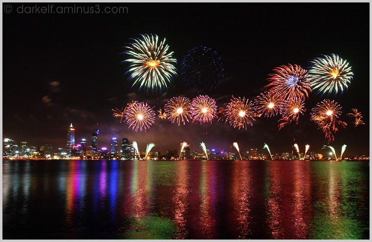 Australia Day Night Fireworks Picture