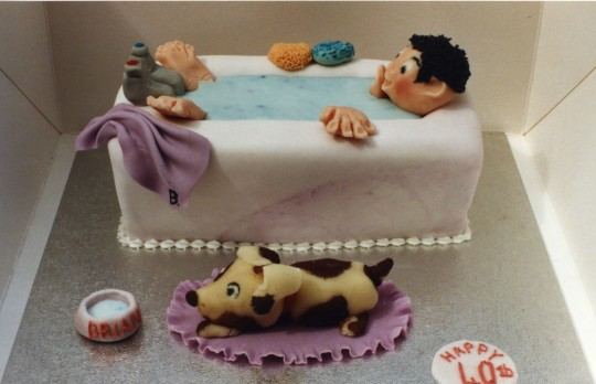 Awesome Bathing Tub Birthday Cake