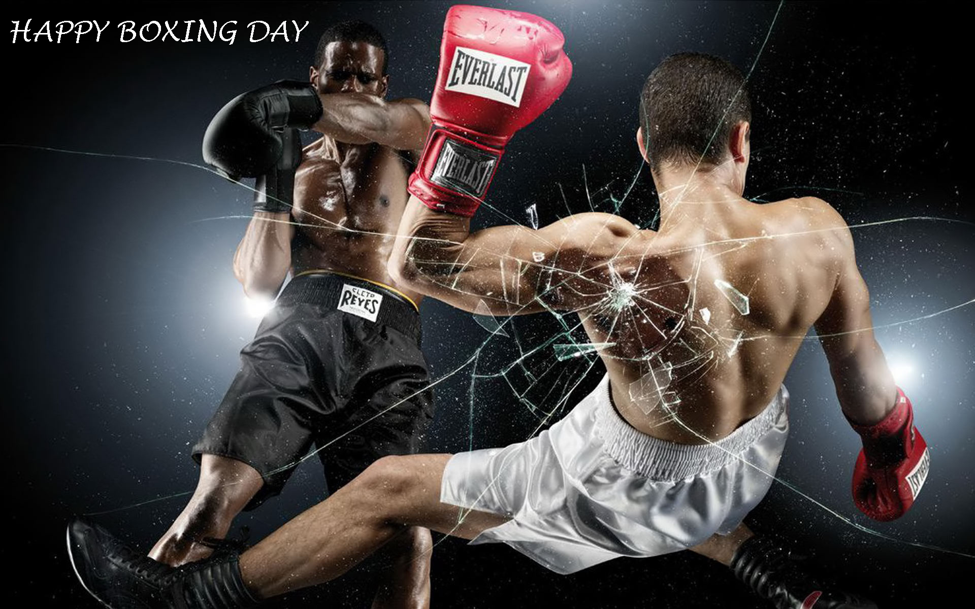 Awesome Happy Boxing Day Broken Screen Hd Wallpaper