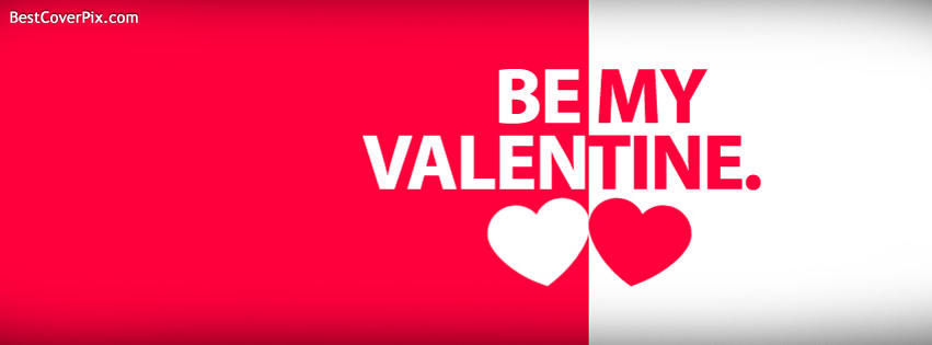 Be My Valentine Facebook Cover Image
