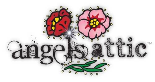 Beautiful Angel Is Attic Flowers Graphics