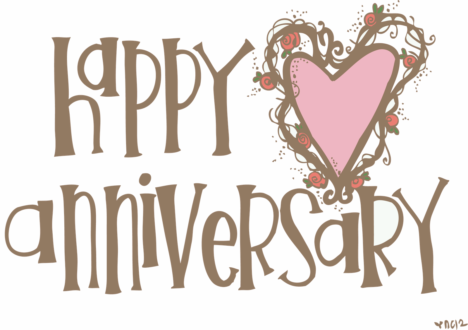 Beautiful Happy Anniversary Card