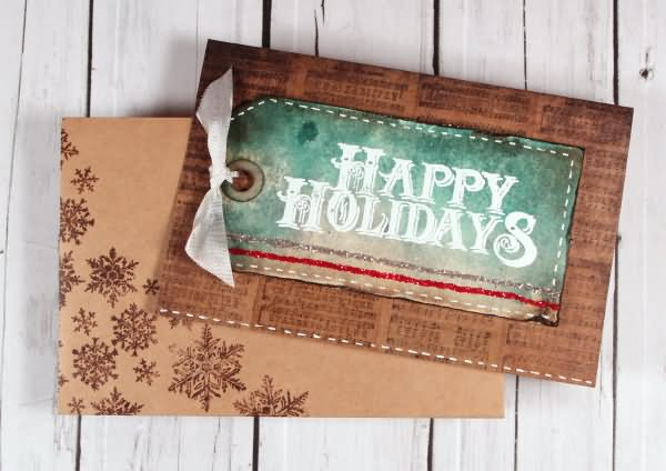 Beautiful Happy Holidays Greeting Card