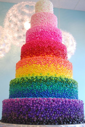 Big Tower Birthday Cake Idea