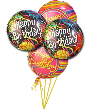 Birthday Balloons Picture For Greeting Card