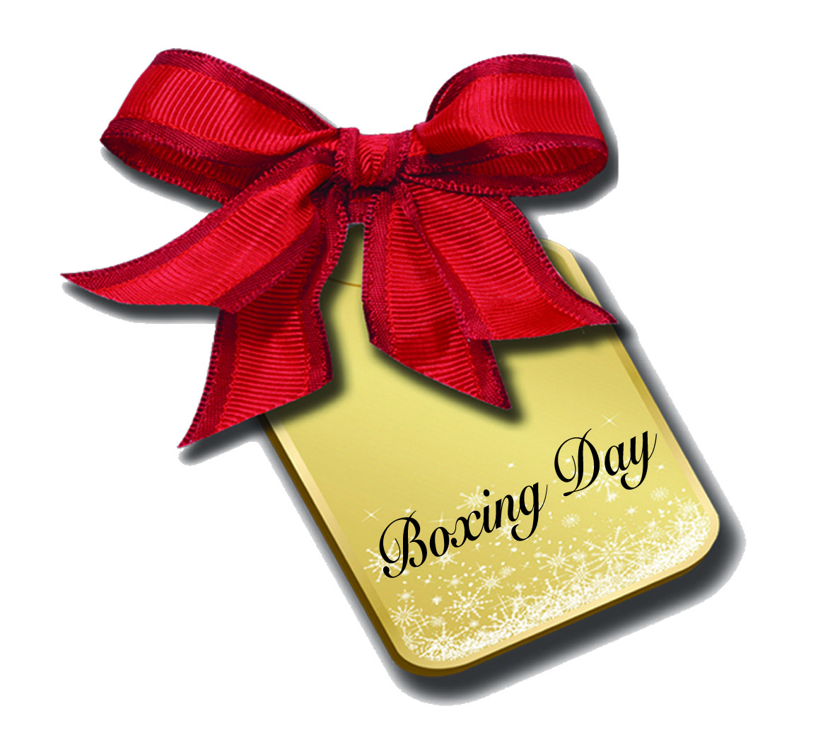 Boxing Day Tag Red Bow Image
