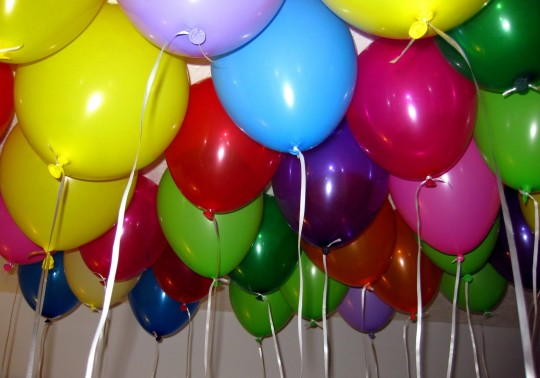 Celebration Birthday Party Colorful Balloons Idea
