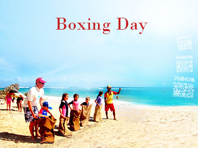 Celebrations Boxing Day On Beach