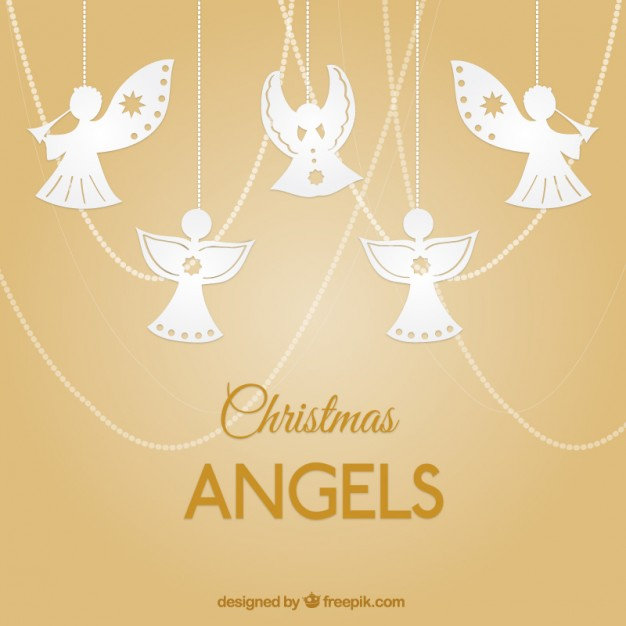 Christmas Angels Card Greeting