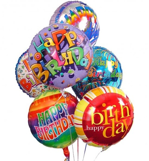 Colorful Happy Birthday Balloons Image