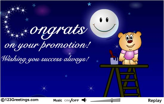 Congrats On Your Promotion Wishing You Success Always Greeting Picture