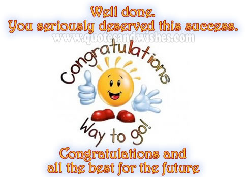 Congratulations And All The Best For The Future Picture Greeting