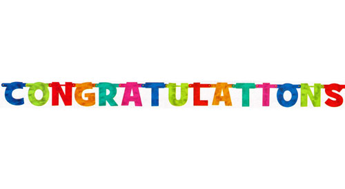 Congratulations Colorful Letters Banner Picture