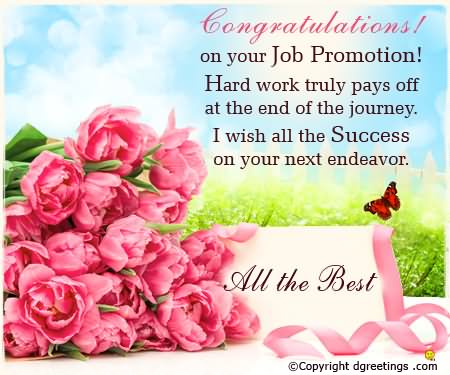 Congratulations On Your Job Promotion Greeting Image