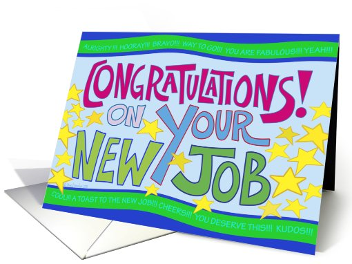 Congratulations On Your New Job Card Greeting Picture