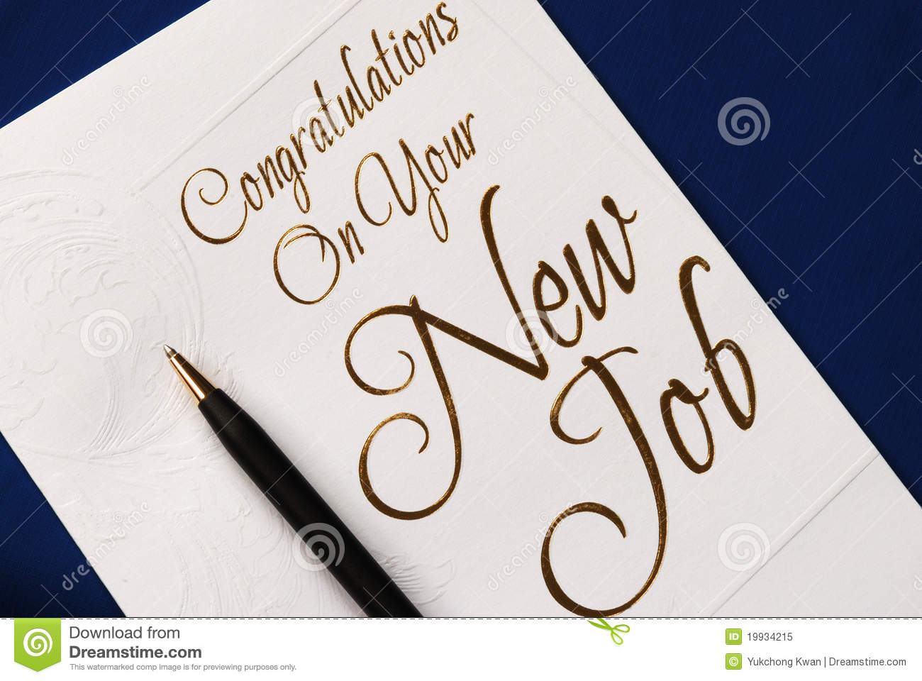 Congratulations On Your New Job Greeting Card Image