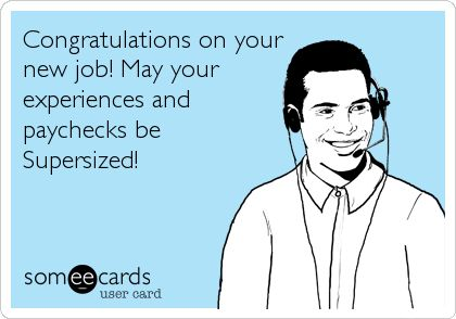 Congratulations On Your New Job Greeting Picture