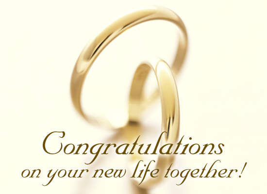 Congratulations On Your New Life Together Greeting Picture