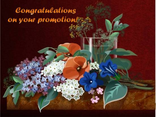 Congratulations On Your Promotion Greeting E-Card Greeting Picture