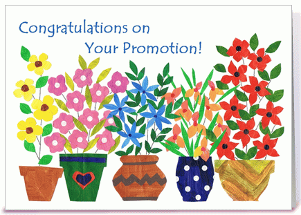congratulations on your promotion greeting card