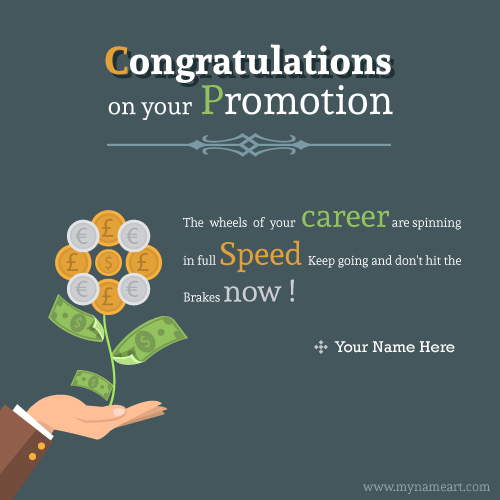 Congratulations On Your Promotion The Wheels Of Your Career Are Spinning In Full Speed Wishes Picture