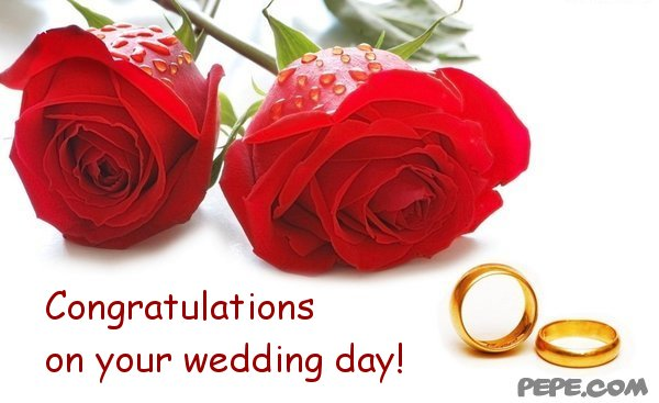 Congratulations On Your Wedding Day Greeting Picture