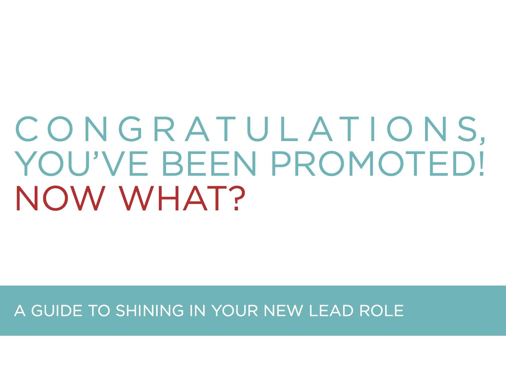 Congratulations You've Been Promoted Greeting Picture