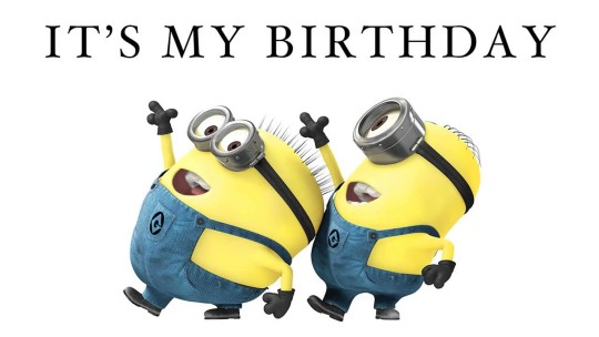 Cute It's My Birthday Minions Picture
