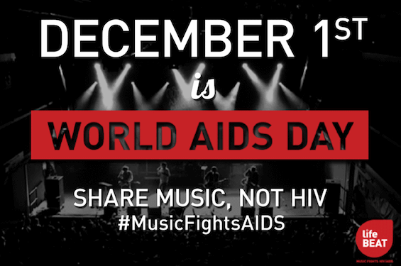 December 1st Is World Aids Day Share Music Not HIV