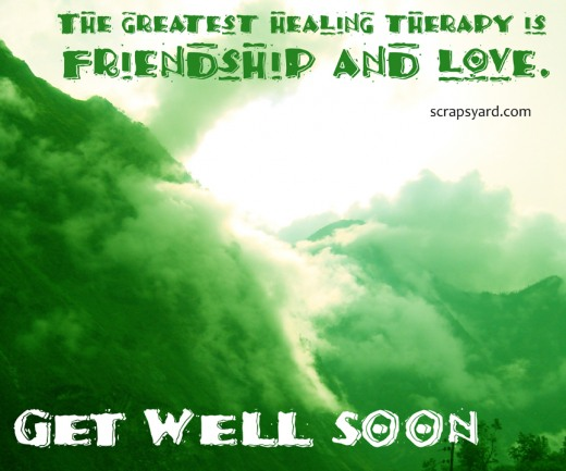 Friendship Love Get Well Soon Wishes Image