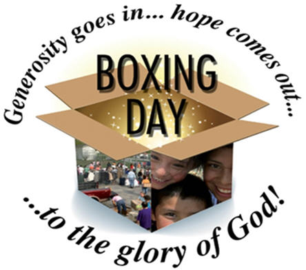 Generosity Goes In Hope Comes Out Boxing Day To The Glory Of God