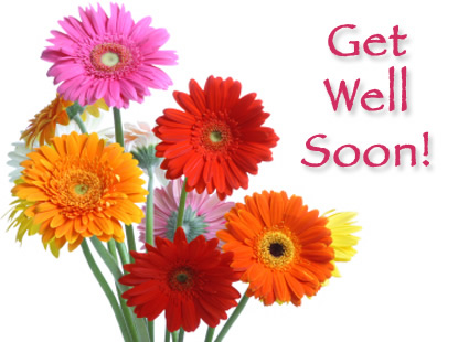 Get Well Soon Colorful Flowers Image