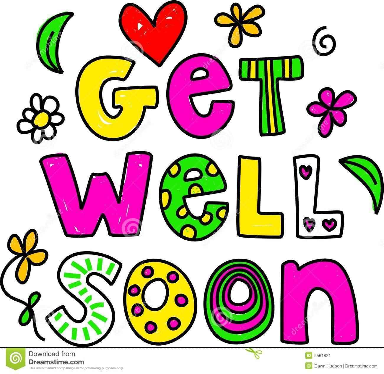 Get Well Soon Colorful Wishes