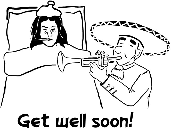Get Well Soon Coloring Page Wishes