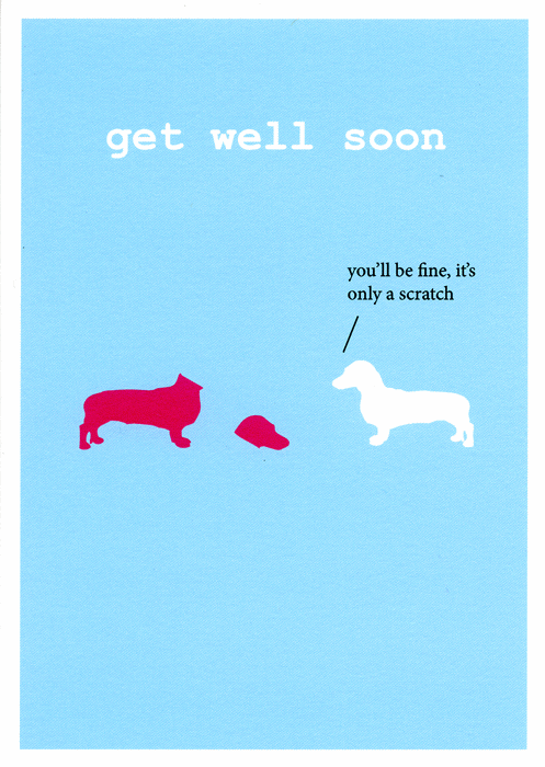 Get Well Soon Dog Greeting E-Card Image