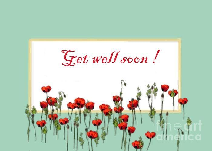 Get Well Soon Flowers Wishes Card