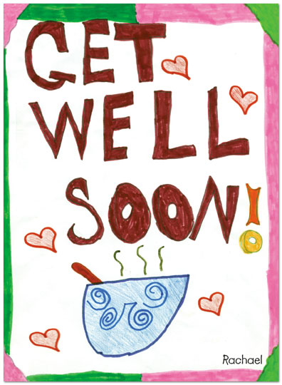 Get Well Soon Handmade Wishes E-Card