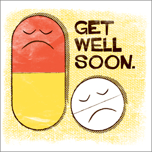 Get Well Soon Medicines Wishes E-Card