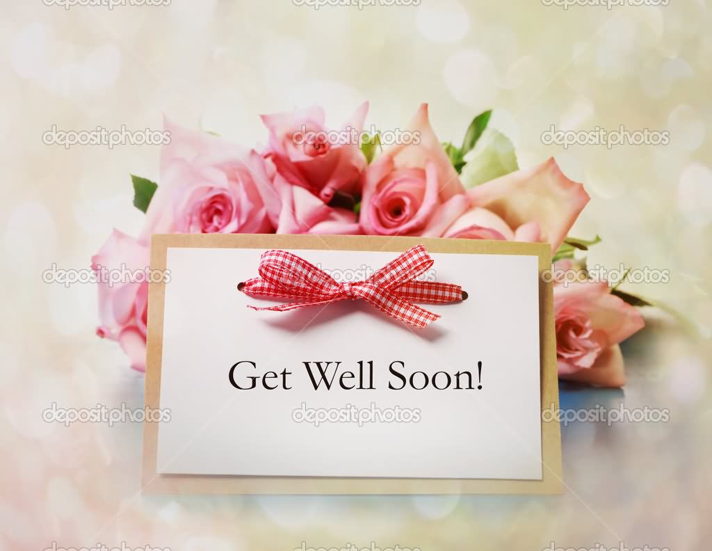 Get Well Soon Red Bow Wishes E-Card