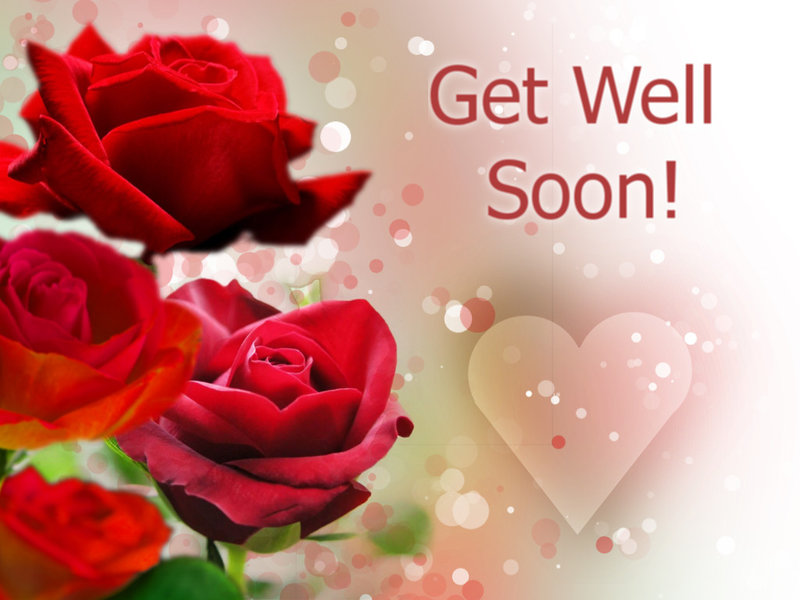Get Well Soon Rose Greeting E-Card