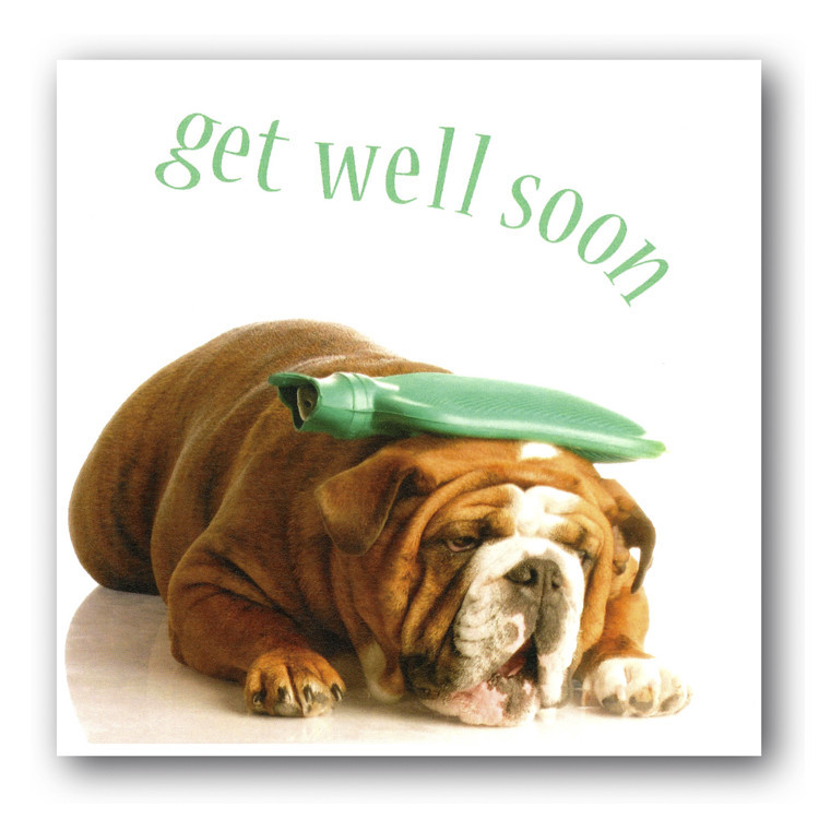 Get Well Soon Sick Dog E-Card