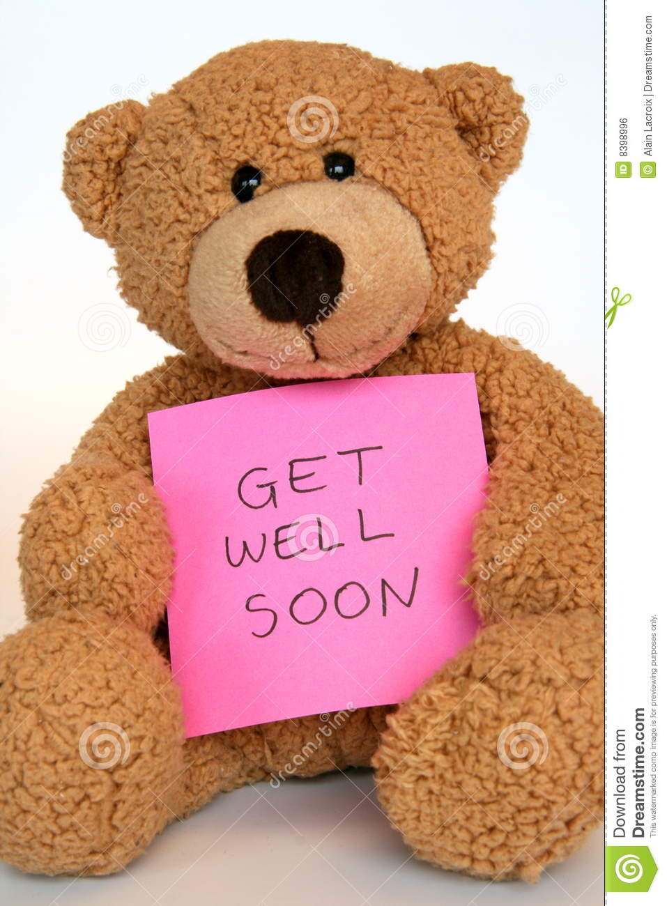 Get Well Soon Teddy Bear Image